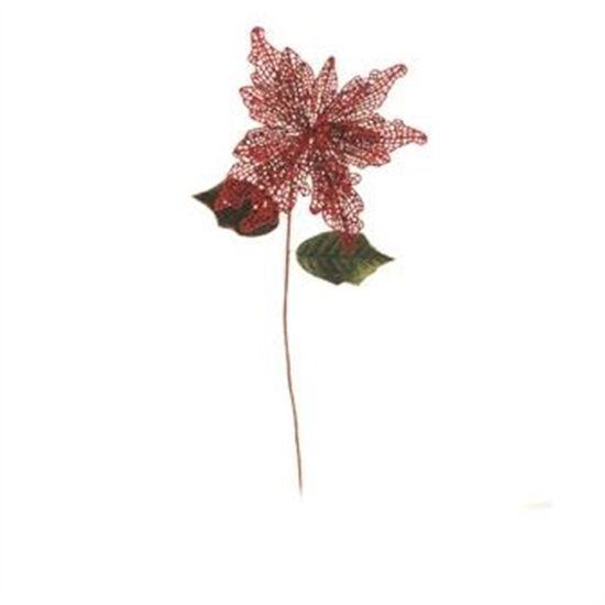 Pick Flor Vermelho (Flores Cabo Longo)  - 12 Unidades