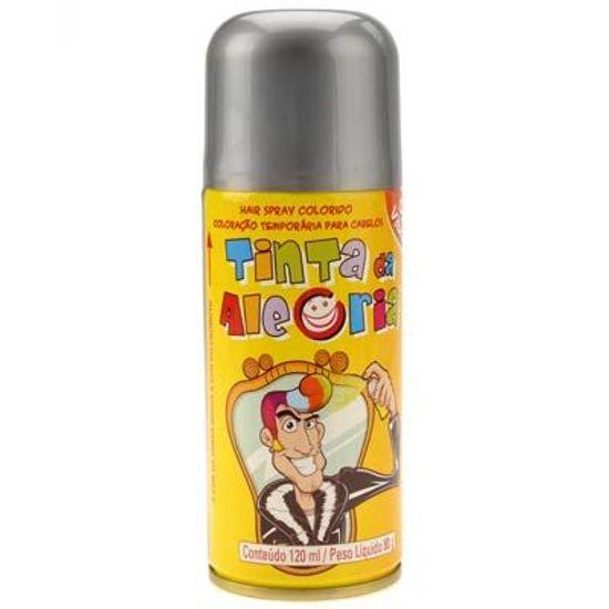 Tinta da Alegria para Cabelos Spray - Prata