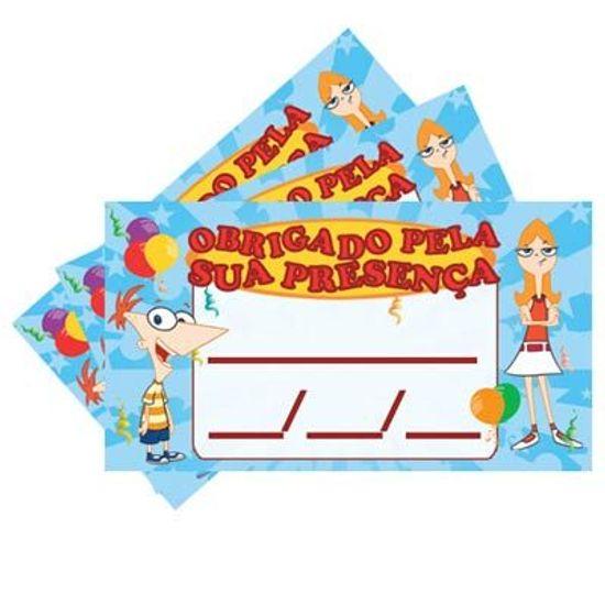 FL - Tags SEM Furo Phineas e Ferb - 15 unidades
