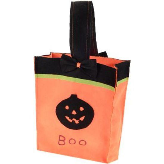 FL - Sacola em Feltro Abóbora Halloween com Alça