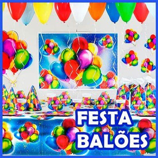 FL - Kit Festa Pronta Balões Sortidos - 08 Pessoas