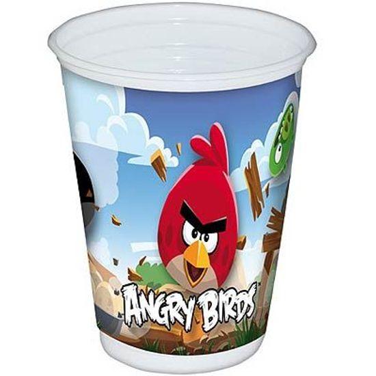 FL - Copo Descartável Angry Birds - 08 unidades