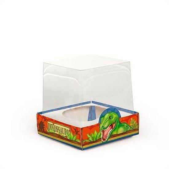 FL - Caixa para Mini Cupcake Cromus Dinossauros - 06 unidades