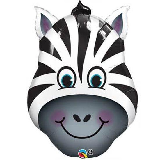 Balão Metalizado Zebra Engraçada - 81cm