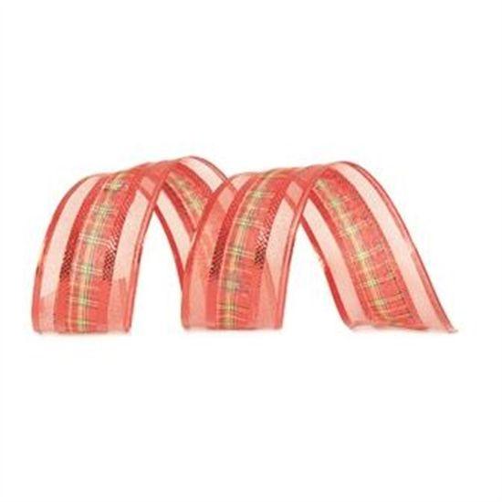 Fita Xadrez Vermelho 6,3 cm x 9,14 mts (Fitas Natalinas) - 3 Unidades