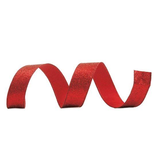 Fita de Natal Craquelada Vermelho 3,8cm (Fita para Presente) - 3 Unidades