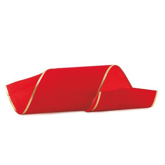 Fita de Natal Veludo Vermelho 15cm (Fita para Presente) - 1 Rolo