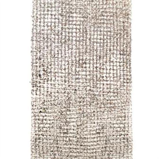 Tela Decorativa Prata 130X310cm (Fitas Natalinas) - 3 Unidades