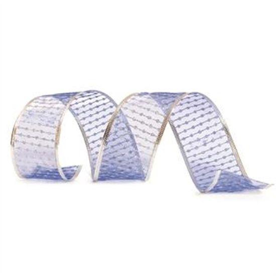 Fita Organza Azul Claro 6,3 cm x 9,14 mts (Fitas Natalinas) - 3 Unidades