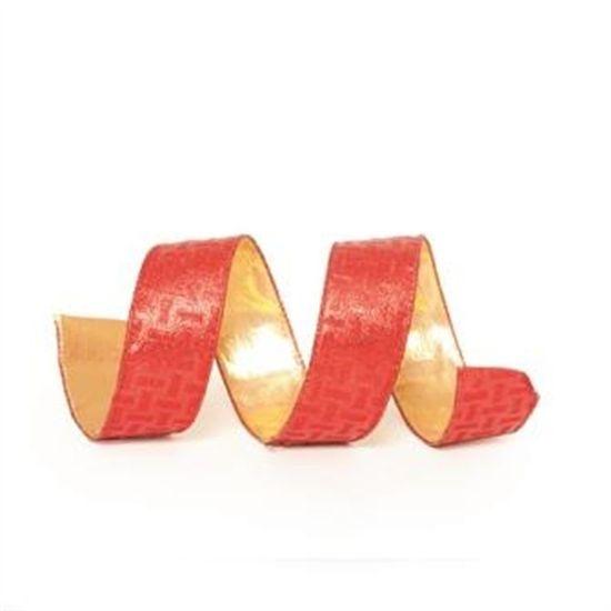 Fita Listras Vermelho 3,8 cm x 9,14 mts (Fitas Natalinas) - 3 Unidades