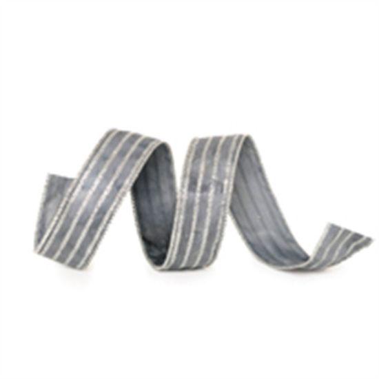 Fita Listras Glitter Prata 3,8 cm x 9,14 mts (Fitas Natalinas) - 3 Unidades