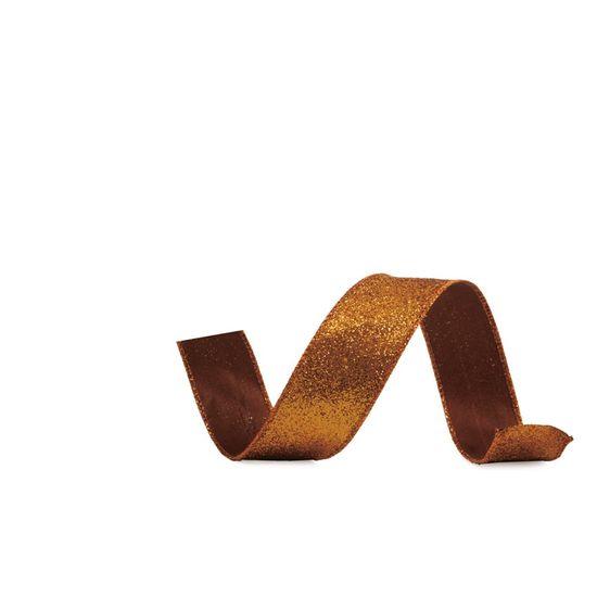 Fita Glitter Cobre 6,3 cm x 9,14 mts