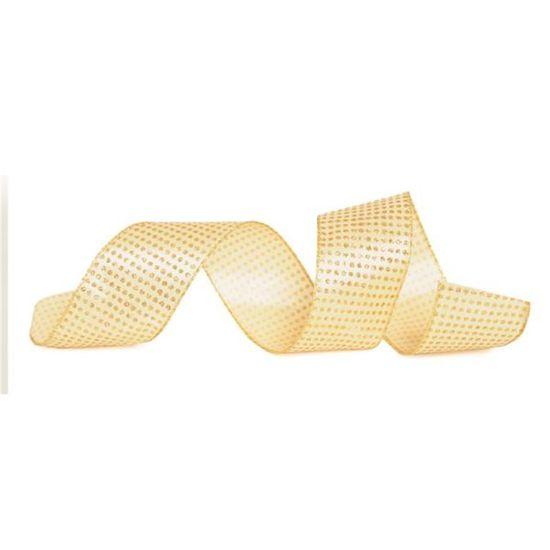 Fita Bolas Ouro 6,3 cm x 9,14 mts (Fitas Natalinas) - 3 Unidades