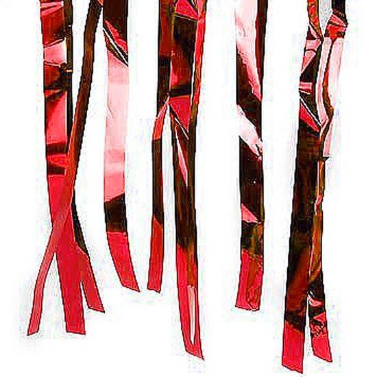Fita Decorativa Metalizada Vermelho - 10 Metros