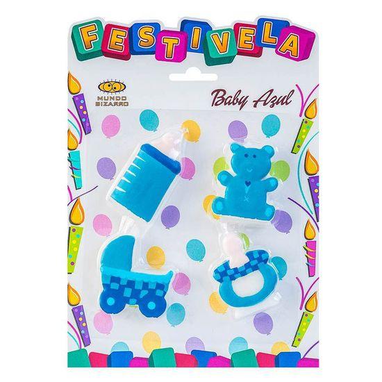 Festivela Baby Azul - 04 unidades