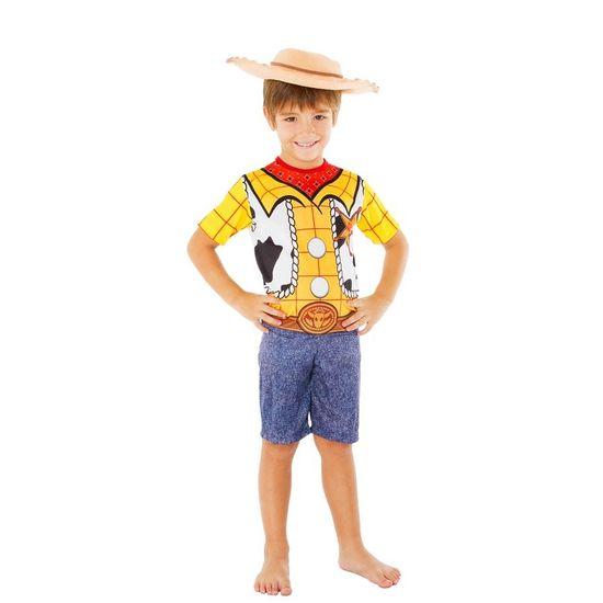 Fantasia Infantil Curta Woody (Toy Story) com Chapéu - Global P (2 a 4 anos)