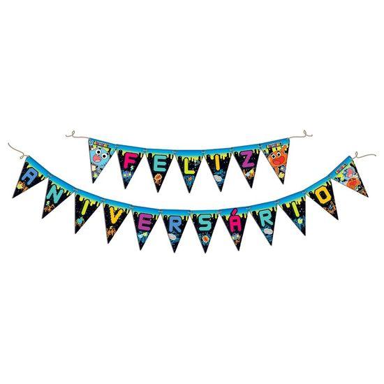 Festa Gumball - Faixa Feliz Aniversário Gumball FL - Faixa Feliz Aniversário Gumball