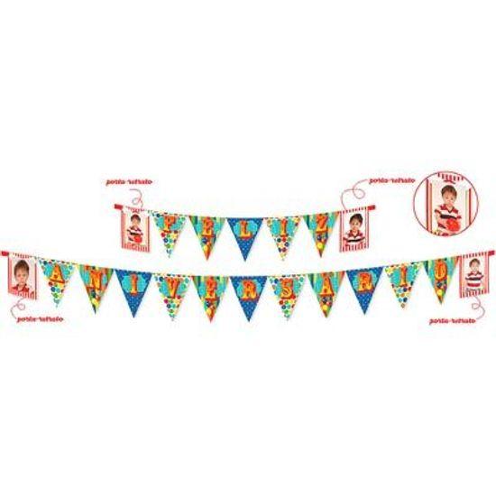 Festa Circo - Cromus Circo - Faixa Feliz Aniversário FL - Cromus Circo - Faixa Feliz Aniversário
