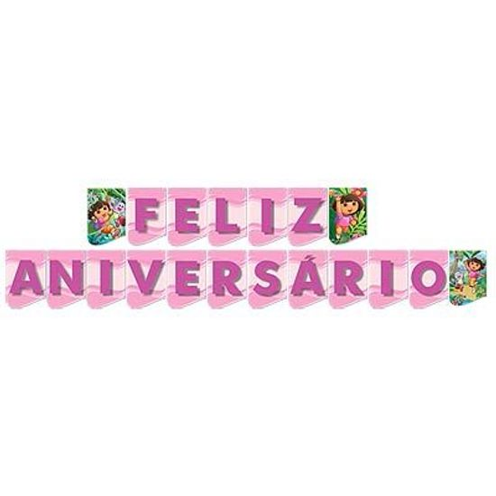 Festa Dora, a Aventureira - Faixa Feliz Aniversário Dora a Aventureira Faixa Feliz Aniversário Dora a Aventureira