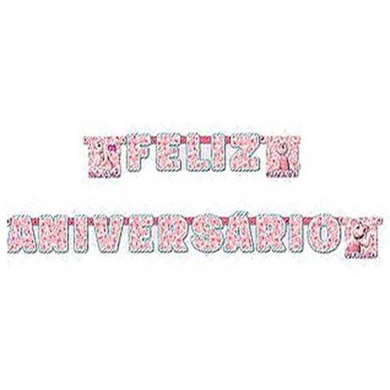Festa Angelina Ballerina - Faixa Feliz Aniversário Angelina Ballerina FL - Faixa Feliz Aniversário Angelina Ballerina