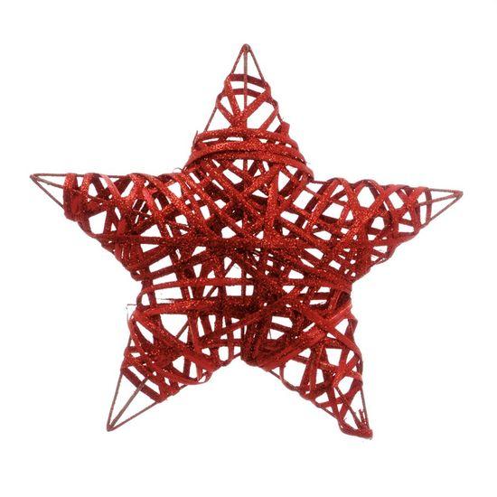 Estrela Rattan Vermelho 30cm (Rattan) - 3 Unidades Estrela Rattan Vermelho 30cm (Rattan) - 1 Unidade
