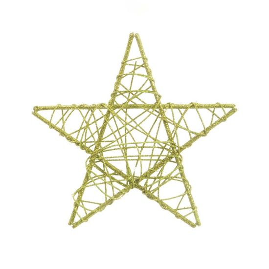 Estrela Rattan Verde 25cm (Rattan) - 1 Unidade