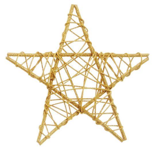 Estrela Rattan Ouro 20cm (Rattan) - 1 Unidade