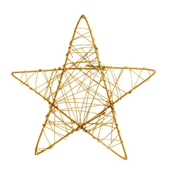 Estrela Rattan Ouro 35cm (Rattan) - 6 Unidades