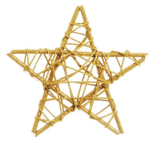 Estrela Rattan Ouro 15cm (Rattan) - 1 Unidade