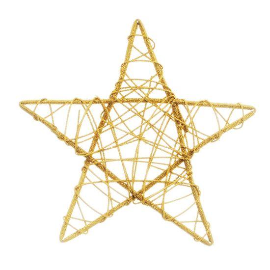 Estrela Rattan Ouro 25cm (Rattan) - 6 Unidades