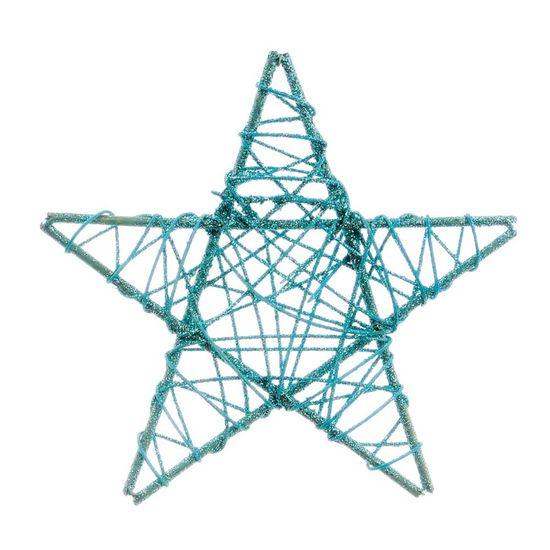 Estrela Rattan Azul 20 cm (Rattan)  - 24 Unidades