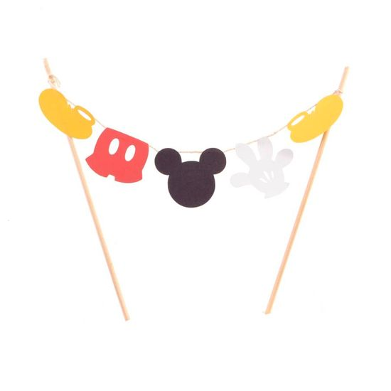 Festa Mickey Mouse - Enfeite Varalzinho no Palito - Mickey Mouse Enfeite Varalzinho no Palito - Mickey Mouse