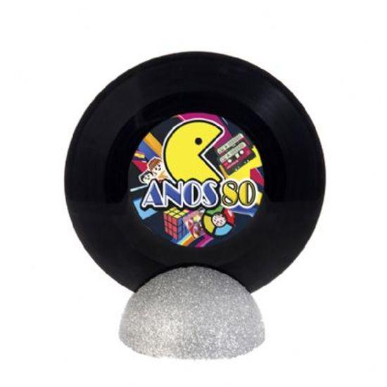 Enfeite de Mesa Disco de Vinil PEQUENO - Anos 80