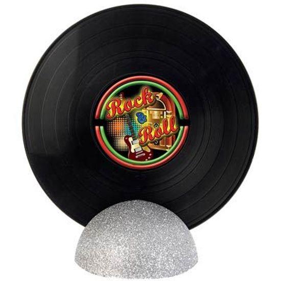 Enfeite de Mesa Disco de Vinil GRANDE - Rock and Roll