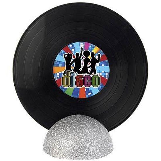 Enfeite de Mesa Disco de Vinil GRANDE - Discoteca