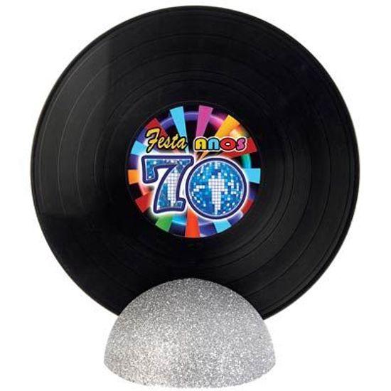 Enfeite de Mesa Disco de Vinil GRANDE - Flash Back Anos 70