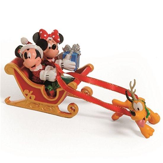 Natal Disney - Enfeite Trenó com Personagens Colorido - 1 Unidade