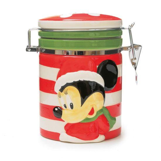 Pote Bomboniere Minnie Vermelho e Verde (Disney)