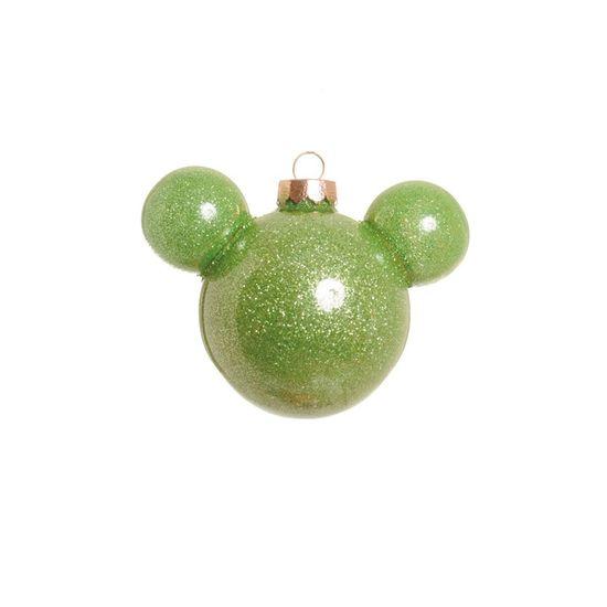 Bola com Glitter Verde Claro 10 cm