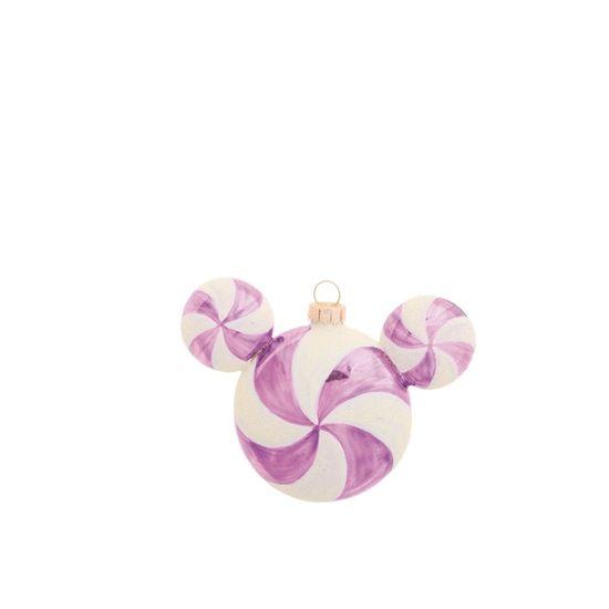 Natal Disney - Bola Mickey Rosa Claro e Branco 6cm - Jogo com 3 Peças