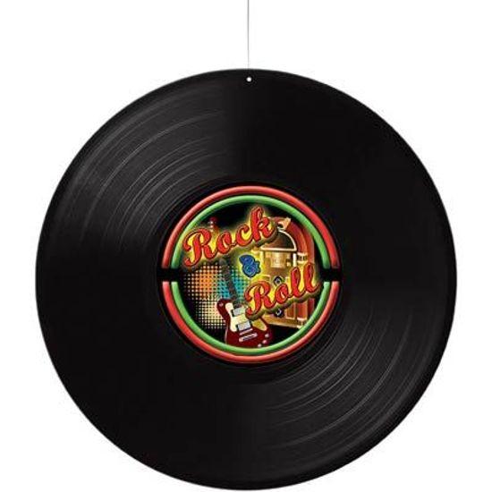 Disco de Vinil Rock and Roll para Pendurar no Teto