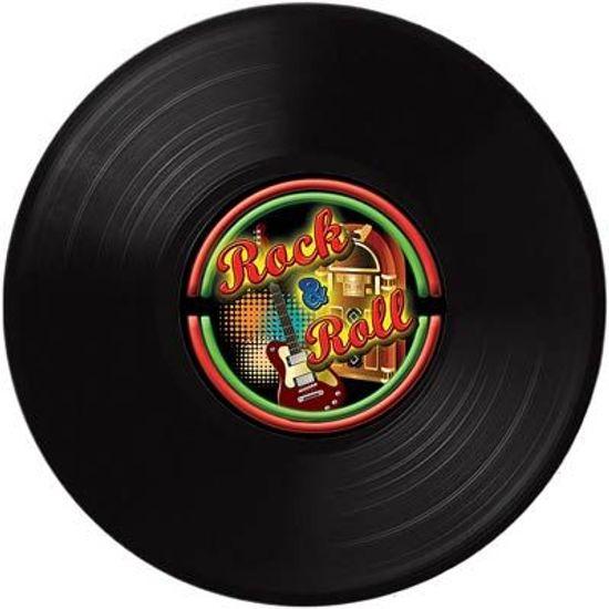 Disco de Vinil Rock and Roll para Decoração de Parede