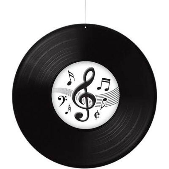 Disco de Vinil Notas Musicais para Pendurar no Teto
