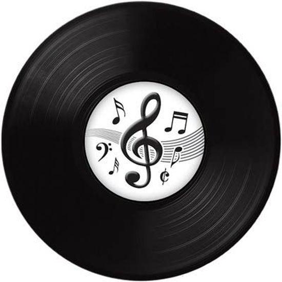 Disco de Vinil Notas Musicais para Decoração de Parede