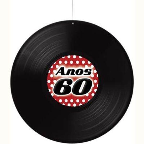 Disco de Vinil Anos 60 para Pendurar no Teto