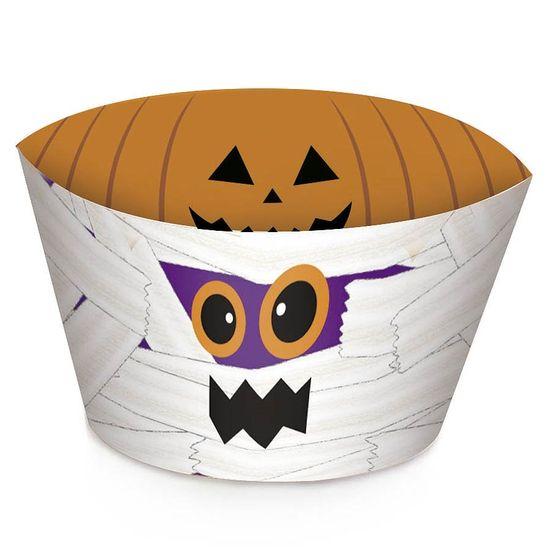 Cromus Halloween - Forma para Cupcake Abóbora e Múmia - 12 unidades
