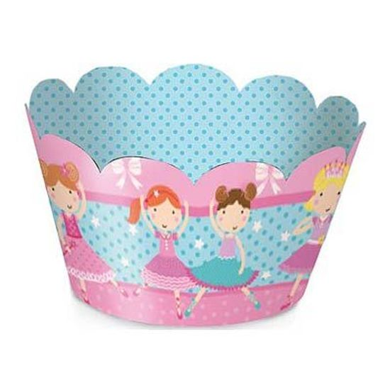 Festa Bailarina - Cromus Bailarina - Forminha para Mini Cupcake - 12 unidades FL - Cromus Bailarina - Forminha para Mini Cupcake - 12 unidades