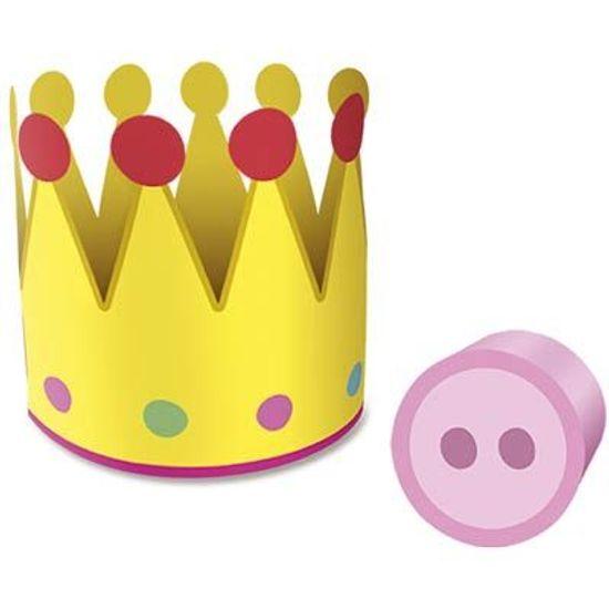 Festa Peppa Pig - Coroa com Nariz Cartonado Peppa Pig - 06 unidades Coroa com Nariz Cartonado Peppa Pig - 06 unidades
