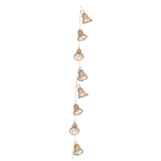 Cordão com Sinos Ouro 150 cm (Rattan)  - 2 Unidades