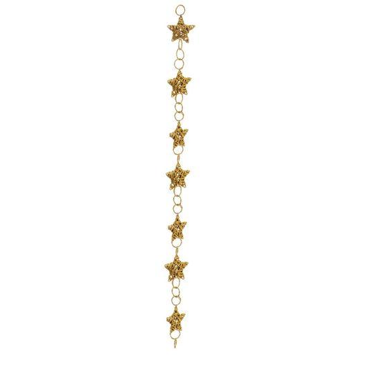 Cordão com Estrelas Ouro 175cm (Rattan) - 1 Unidade